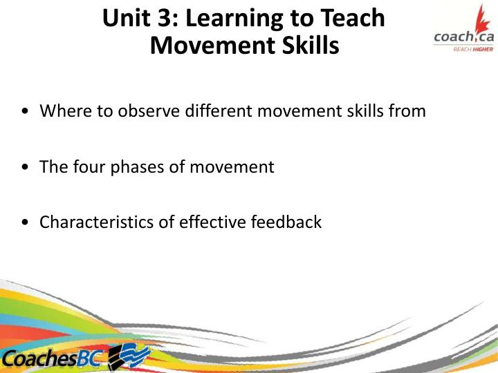 Unit 3: Learning to Teach