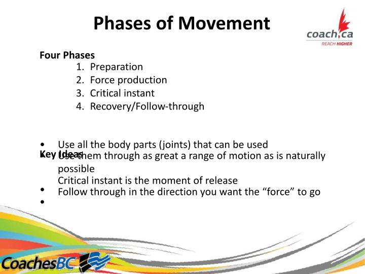 Phases of Movement