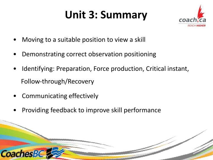 Unit3:Summary