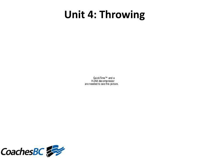 Unit4:Throwing