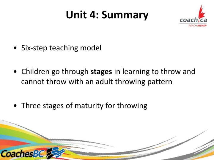 Unit4:Summary
