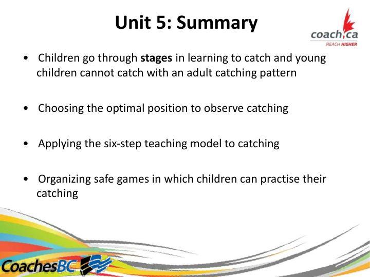Unit5:Summary