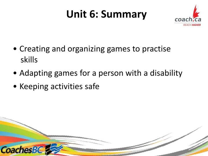 Unit6:Summary