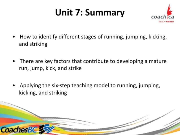 Unit7:Summary