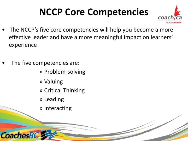 NCCPCoreCompetencies