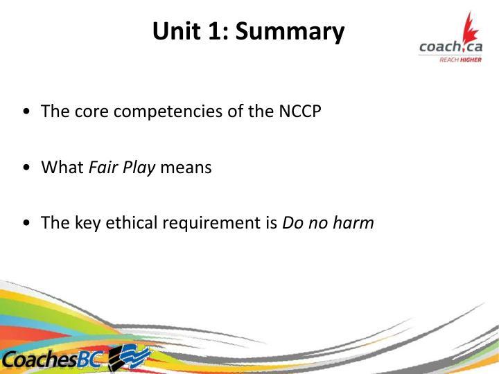 Unit1:Summary