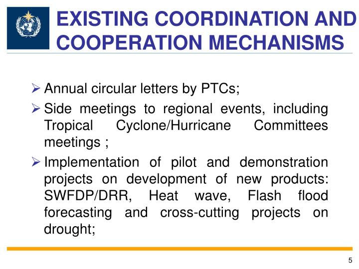 EXISTING COORDINATION AND