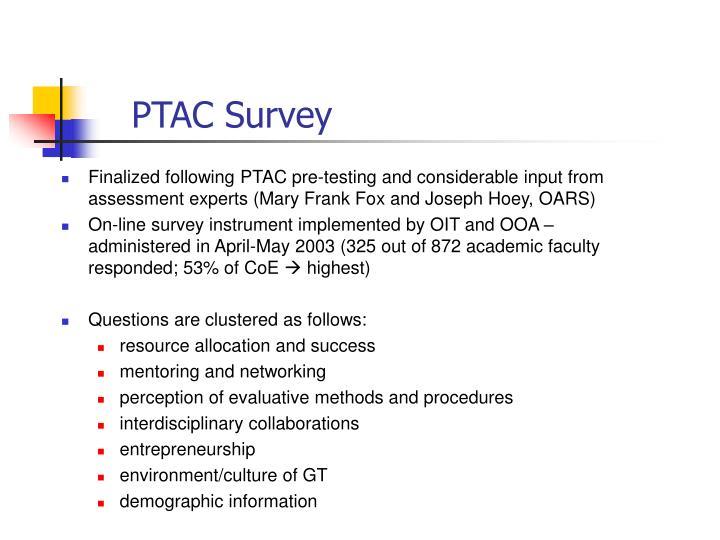 PTAC Survey