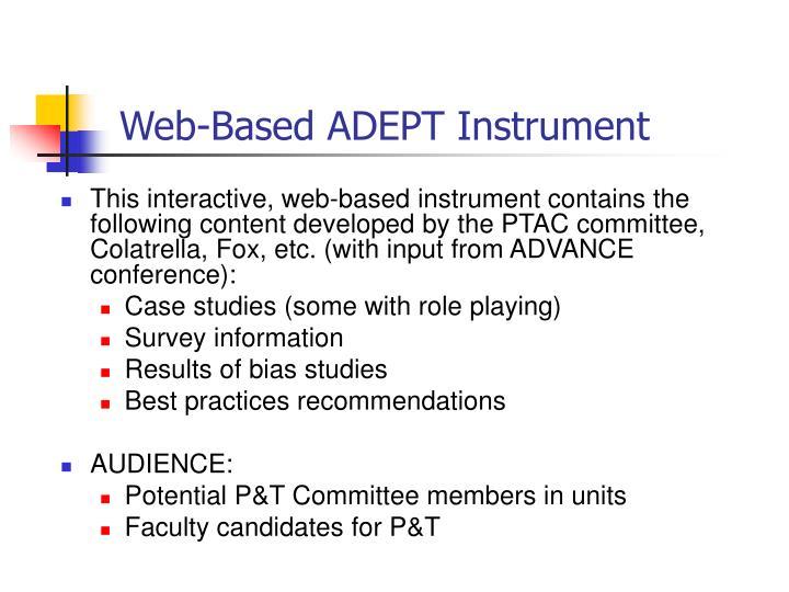 Web-Based ADEPT Instrument