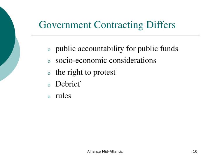 Government Contracting Differs
