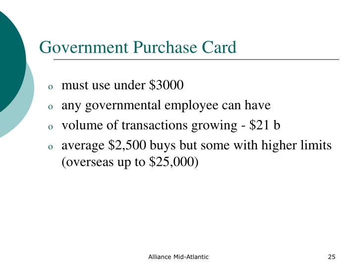 Government Purchase Card