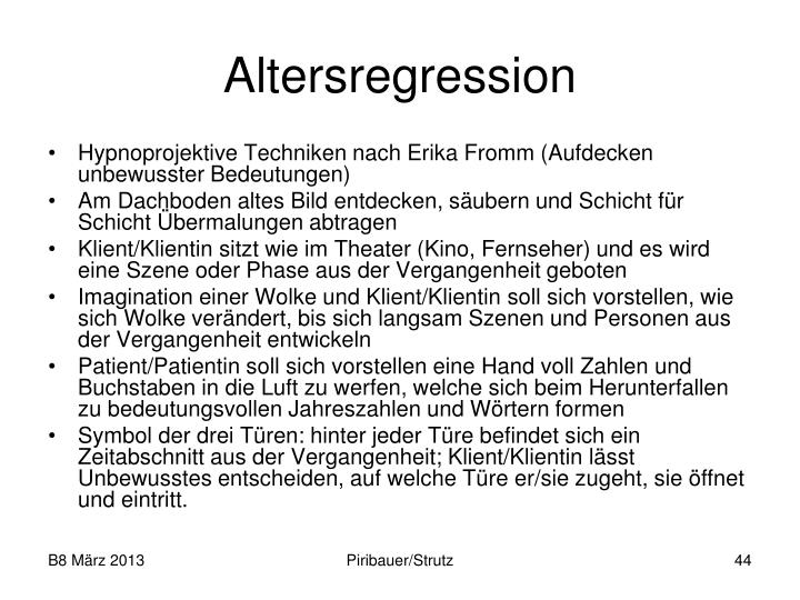 Altersregression