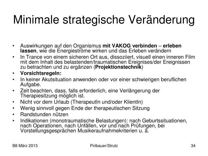 Minimale strategische Veränderung