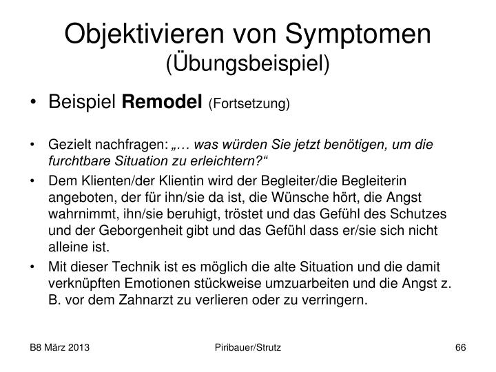 Objektivieren von Symptomen