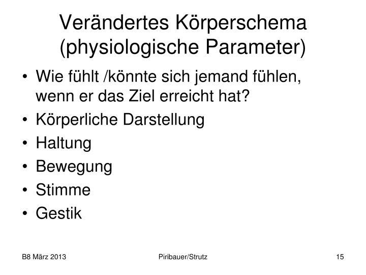 Verändertes Körperschema (physiologische Parameter)