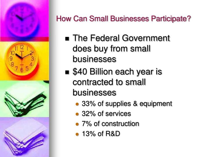 How Can Small Businesses Participate?