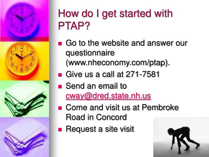 How do I get started with PTAP?