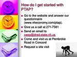how do i get started with ptap