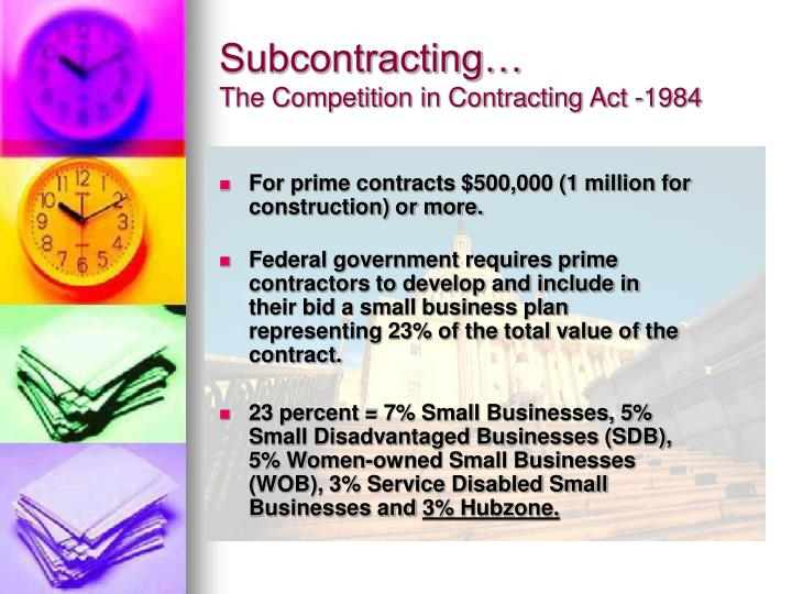 Subcontracting…