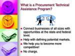 what is a procurement technical assistance program