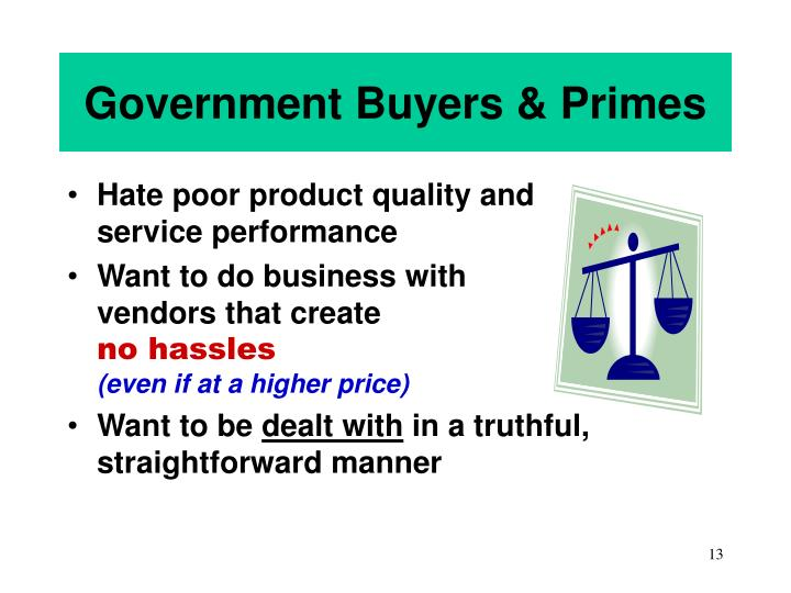 Government Buyers & Primes