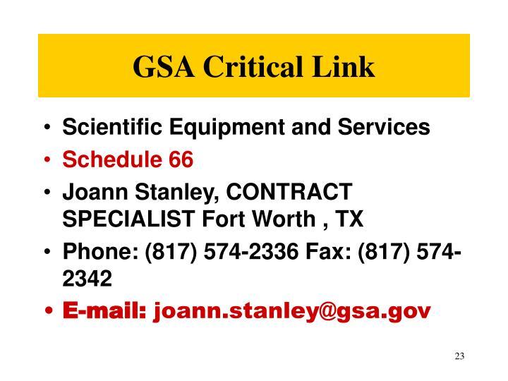 GSA Critical Link