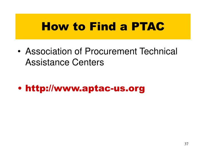 How to Find a PTAC