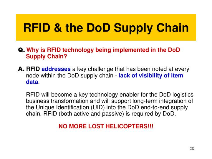 RFID & the DoD Supply Chain