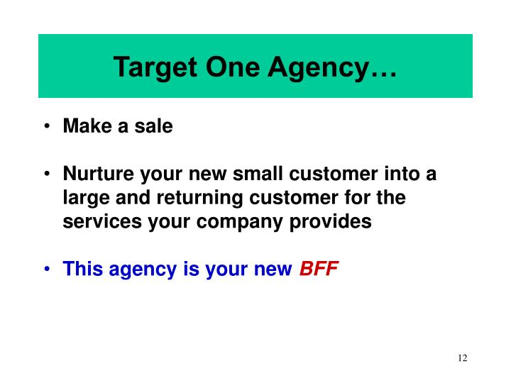 Target One Agency…