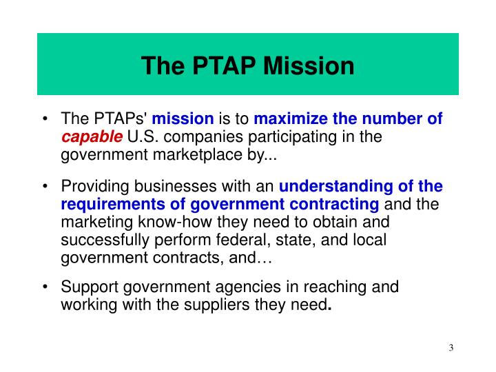 The ptap mission