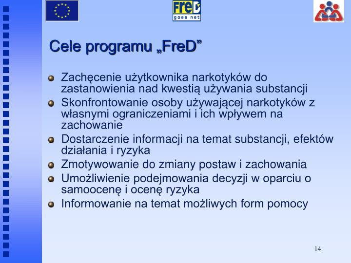 "Cele programu ""FreD"""