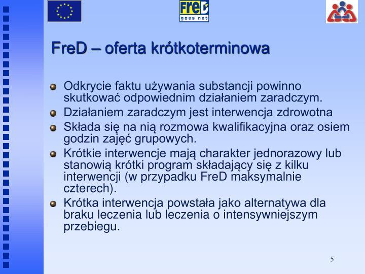 FreD – oferta krótkoterminowa