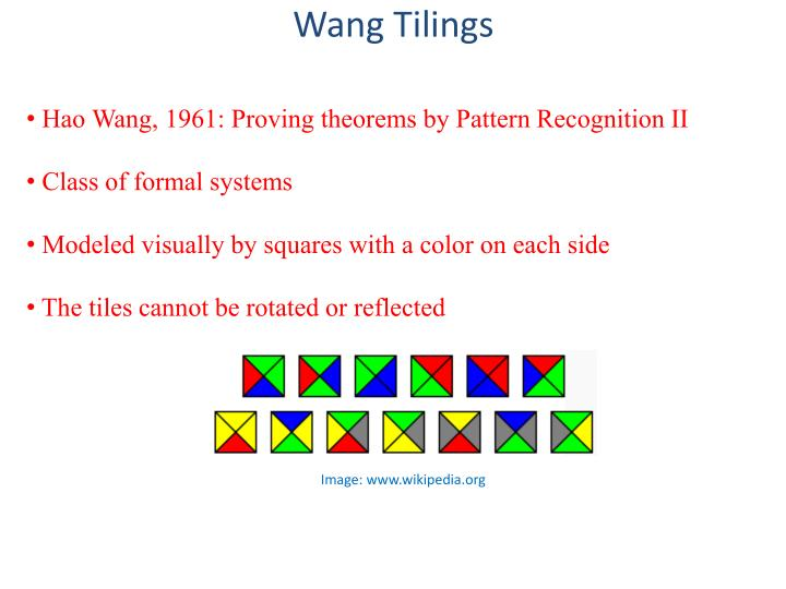 Wang Tilings