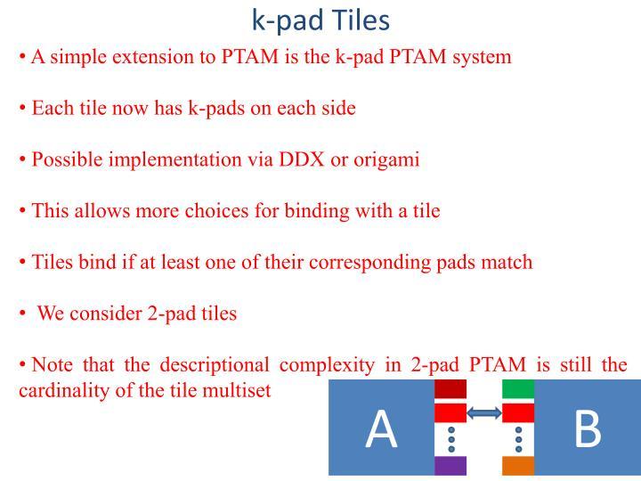 k-pad Tiles