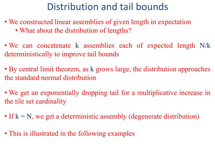 Distribution and tail bounds