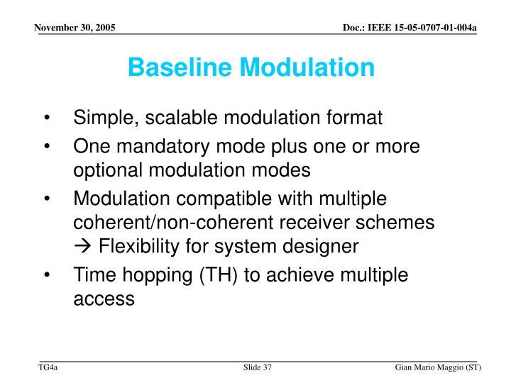 Baseline Modulation