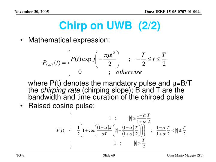 Chirp on UWB  (2/2)