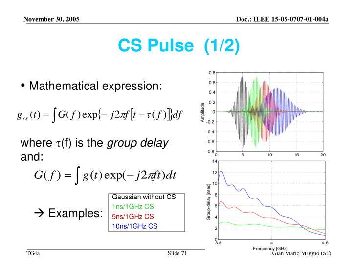 CS Pulse  (1/2)