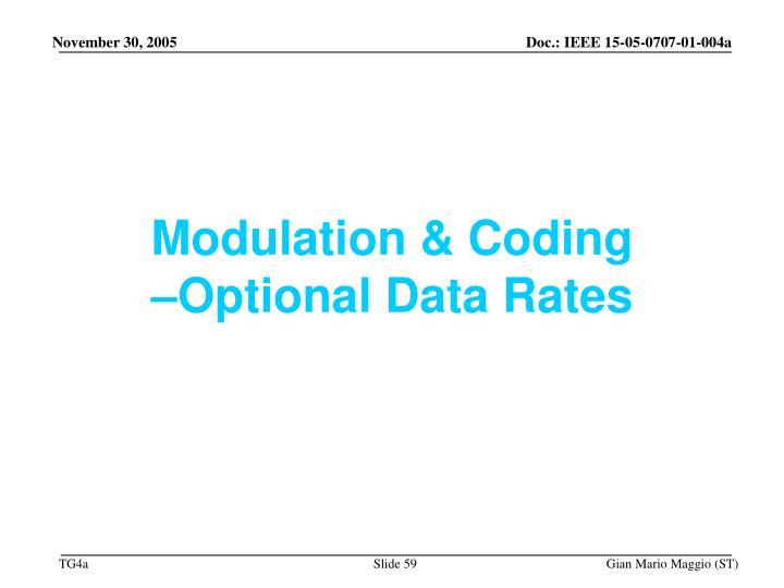 Modulation & Coding