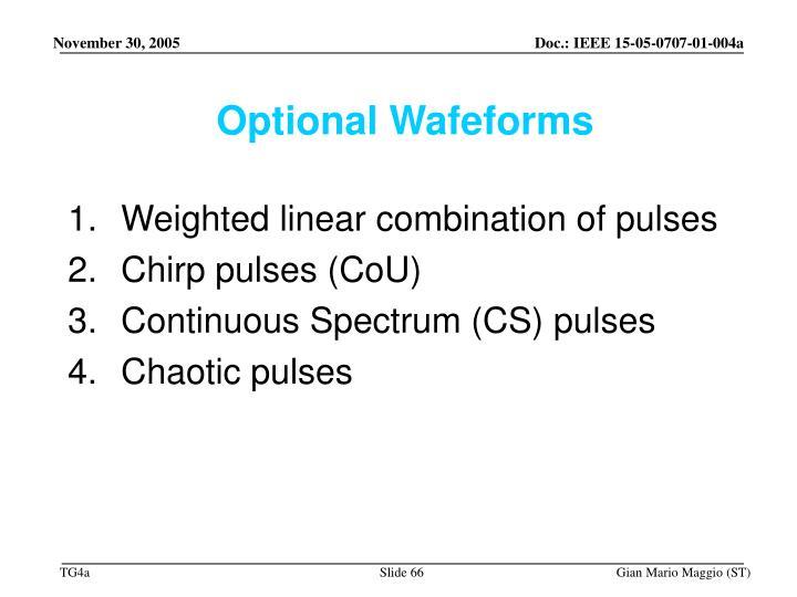 Optional Wafeforms