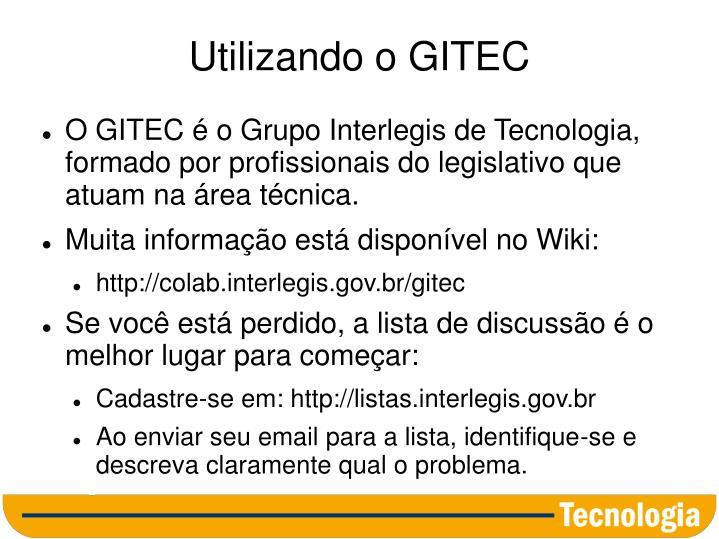 Utilizando o GITEC