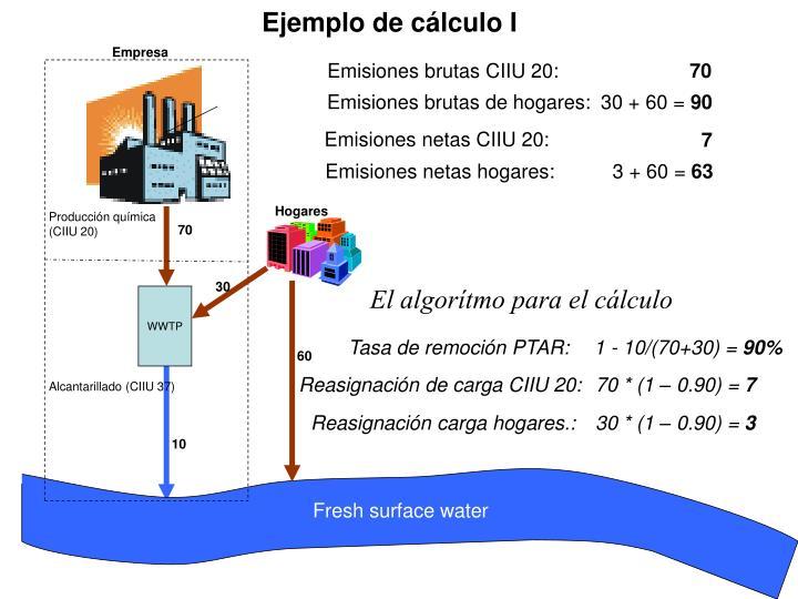 Ejemplo de cálculo I