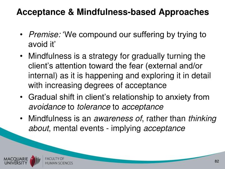Acceptance & Mindfulness-based Approaches