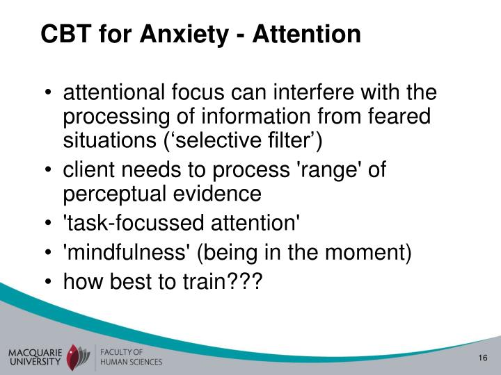 CBT for Anxiety - Attention