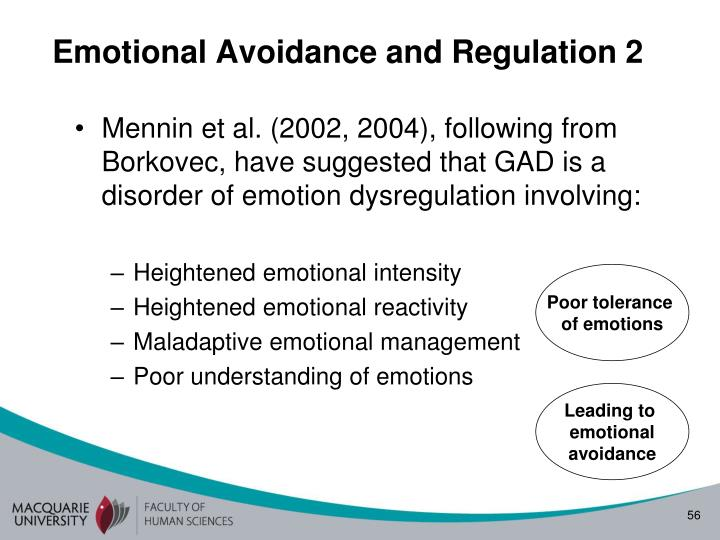 Emotional Avoidance and Regulation 2