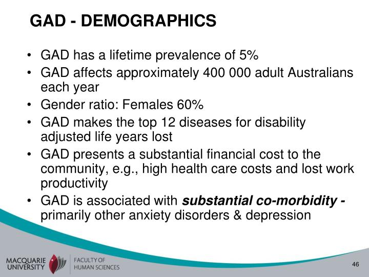 GAD - DEMOGRAPHICS