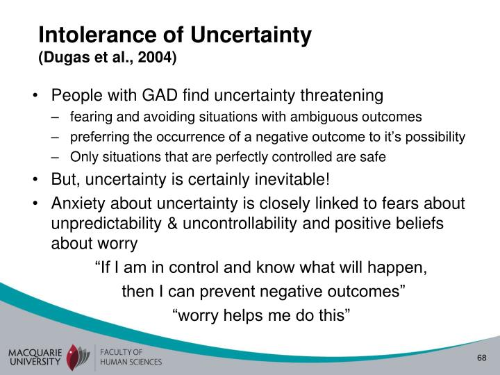 Intolerance of Uncertainty