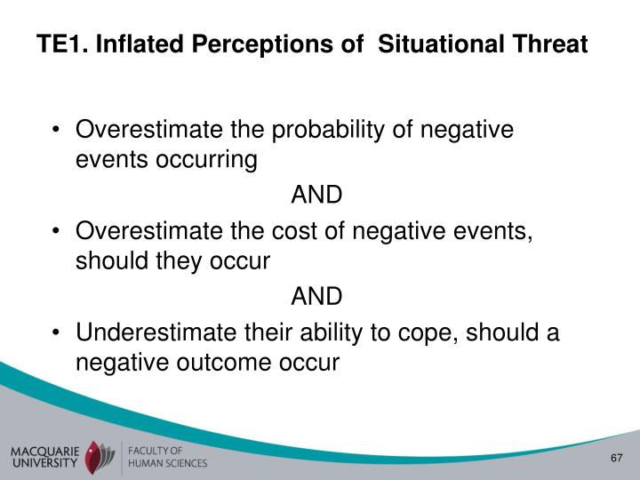 TE1. Inflated Perceptions of  Situational Threat