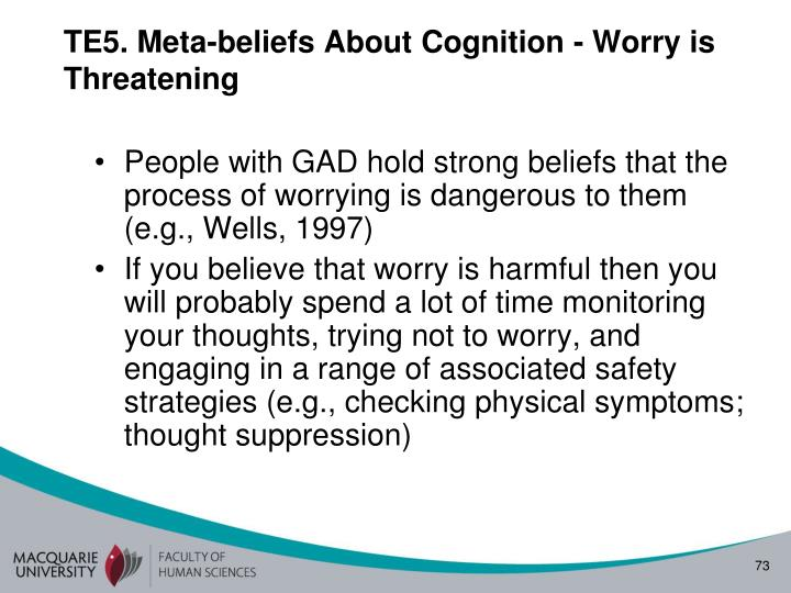 TE5. Meta-beliefs About Cognition - Worry is Threatening