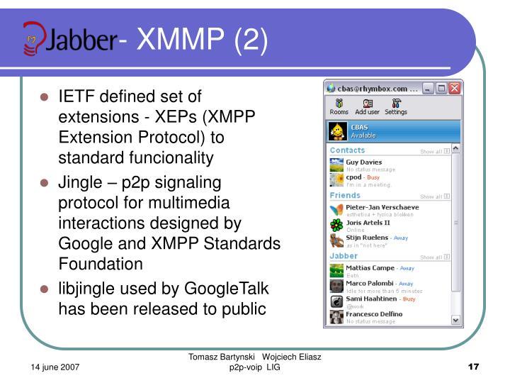 - XMMP (2)